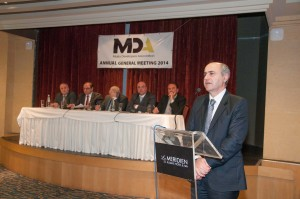 Parliamentary Secretary Josè Herrera addresses the MDA 2015 AGM