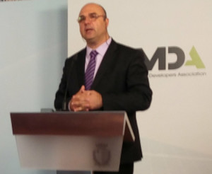 MDA President Sandro Chetcuti delivering his address